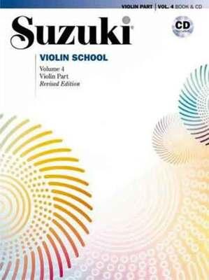 Suzuki Violin School Vol 4 Bk/cd New Ed 2008