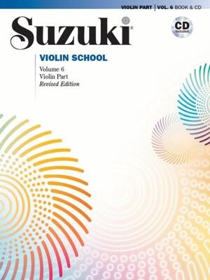 Suzuki Violin School Vol 6 Bk/cd New Ed