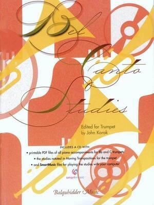 Bel Canto Studies For Trumpet Bk/cd Ed Korak