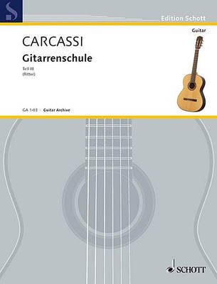 Carcassi - Complete Guitar Method Bk 3 German Edition