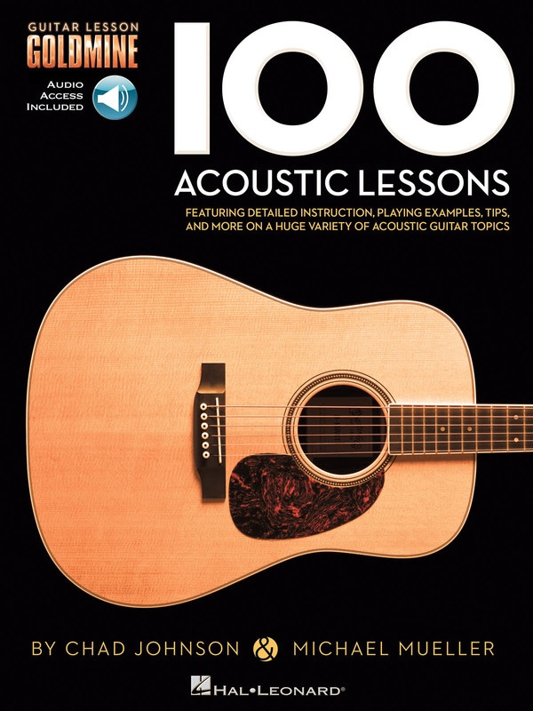 100 ACOUSTIC LESSONS GUITAR GOLDMINE BK/OLA : 100 Acoustic Lessons