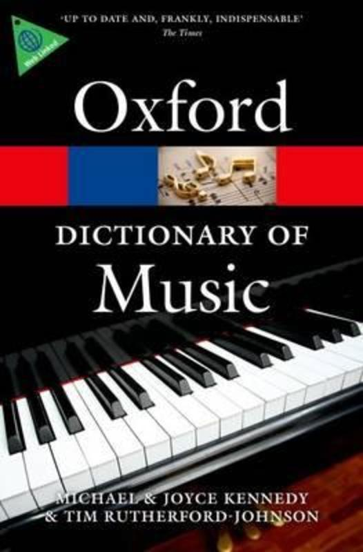 Picture of OXFORD DICTIONARY OF MUSIC 6TH ED PAPERBACK : The Oxford Dictionary of Music